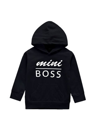 Picture of Boys' Hoodie Long Sleeve Letter Pattern Simple Style Soft Top - Size: Reference Height:80cm