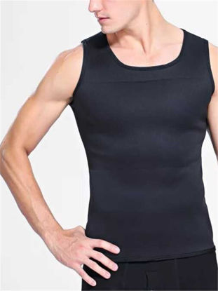 Picture of Men's Sports Tank Top All Match Sweat Absorption Training Gym Wear Corset - Size: 3XL