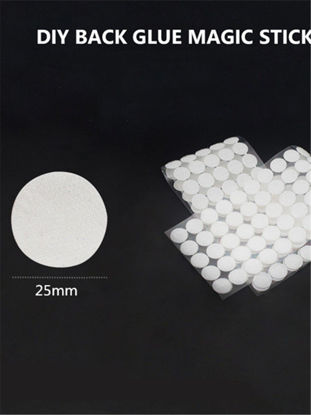 Picture of 100 Pairs Sticky Hook & Loop Coins Fasteners Self Adhesive Dots Tapes - Size: One Size