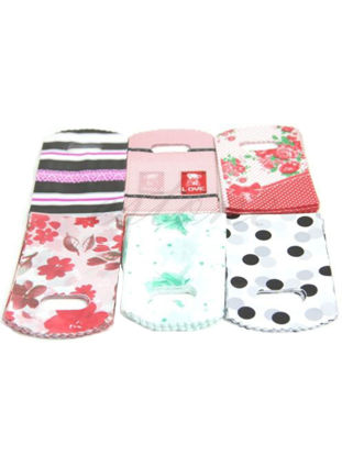Picture of 50Pcs Party Gift Shopping Bag Mixed Pattern Mini Plastic Gift Bags - Size: One Size