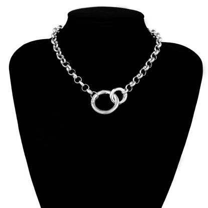 Picture of Women's Fashion Necklace Solid Color Personalized Chain Necklace Accessory - Size: One Size