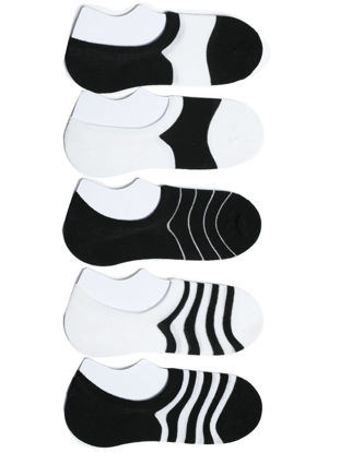 Picture of Men's 5 Pairs Ankle Socks Striped Patchwork Color Simple Style Socks - Size: One Size