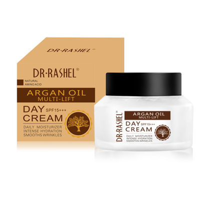 Picture of Dr Rashel Argan Oil Multi-lift Day Cream Spf 15+++ Hydrating & Smooth Wrinkle Face Cream