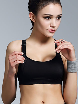 Picture of B.BANG Women's Sports Bra High Elastic Breathable Adjustable Fitness Yoga Bra - Size: XL