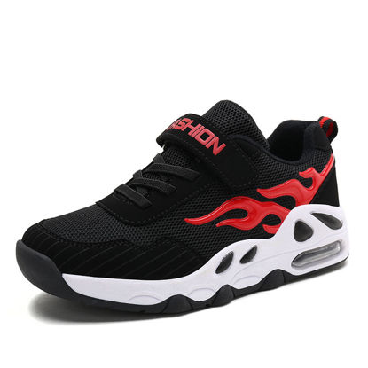 Picture of Kid's Fashion Sneakers Durable Breathable Outdoor Thick Sole Trendy Shoes - Size: 29