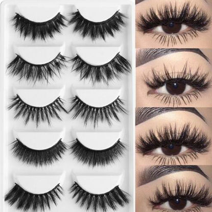 Picture of 20 Pcs Handmade Natural Artificial Eyelashes Thick and Curly Lash Extensions