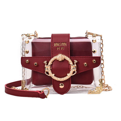 Picture of Women's Crossbody Bag Colorblock Casual Rivet Bag - Size: One Size