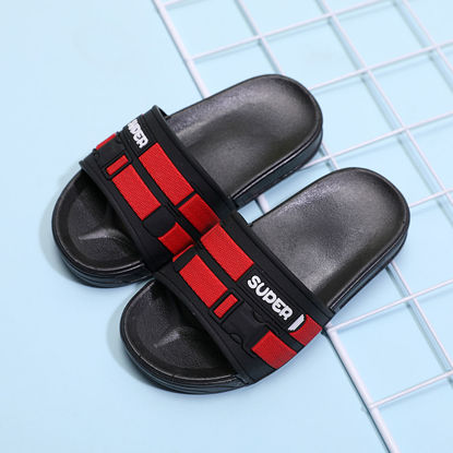 Picture of Kid's Open Toe Slippers Letter Design Casual Non-Slip Shoes - Size: 32