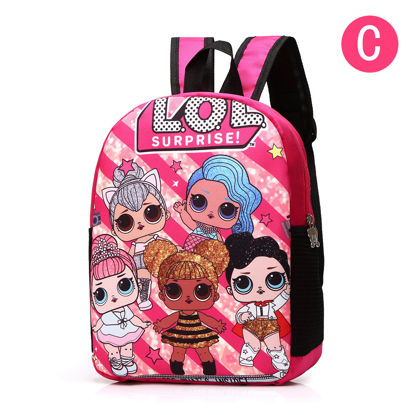 Picture of Girl 's Backpack Fashion Cute Print School Bag - Size: One Size