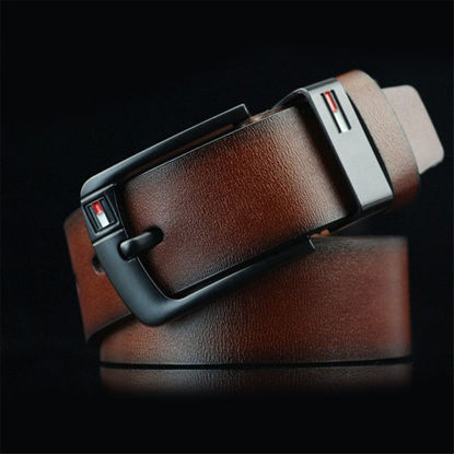 Picture of Men's Belt Pin Buckle Solid Color Casual Accessory - Size: One Size