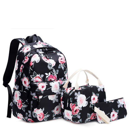 Picture of 3Pcs Women's Backpack Set Fashion Casual Comfort Large Capacity Floral Print Bags Set - Size: One Size