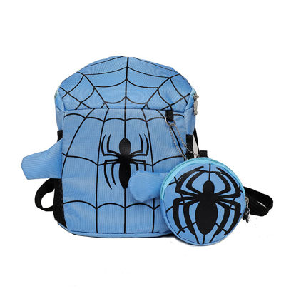 Picture of Kid's 2Pcs Backpack Set Spider Pattern Zipper Closure All-Match Bags Set - Size: One Size