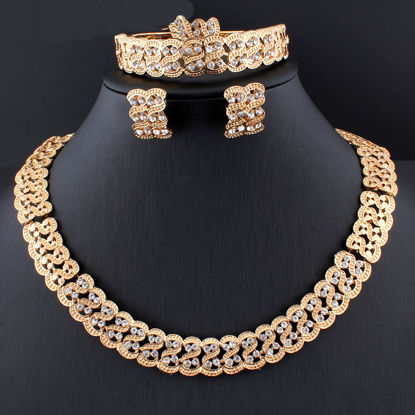 Picture of Women's Whole Set Necklace Earrings Ring Bracelet Wedding Jewelry Set Accessory - Size: One Size