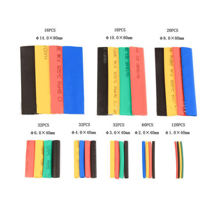 Picture of 328Pcs Heat Shrinkable Tubes Multi-Color Home Product