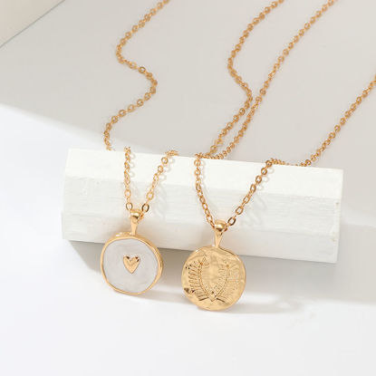 Picture of 2 Pcs/Set Women's Fashion Necklaces All Match Ladylike Necklaces Accessory - Size: One Size