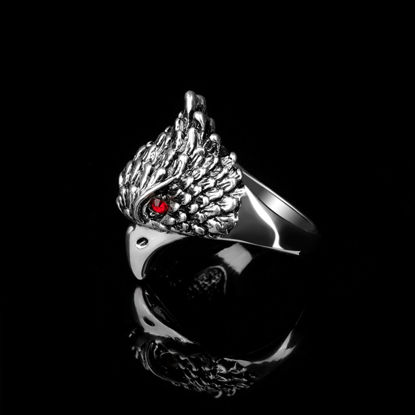 Picture of Men's Ring One Piece Exquisite Eagle Shape Design Accessory - Size: 9