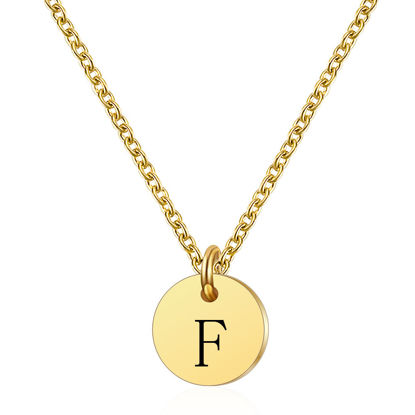 Picture of Women's Fashion Necklace Letter Engraved Shaped Pendant Necklace Accessory - Size: One Size