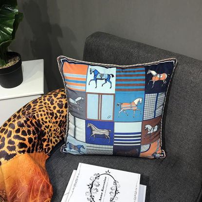 Picture of FRIDAY LOVE 1 Piece Cushion Case Nordic Double Sided Print Square Cushion Cover - Size: 45*45(W*L)cm