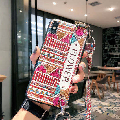 Picture of Huawei Series Phone Case Ethnic Style Colorblock Simple Design Phone Cover - Size: Huawei Mate 20 Pro