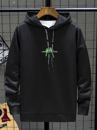Picture of Men's Hoodie Hooded Print Long Sleeve Fashion Hoodie - Size: XL
