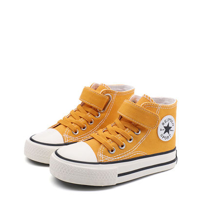Picture of Teens' Canvas Shoes Velcro Simple Design Casual Shoes - Size: 25
