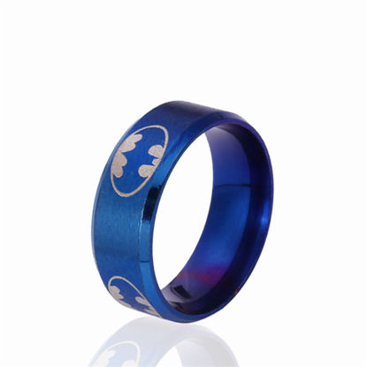 Picture of Men's Ring Simple Fashion All-Match Color Block Stainless Steel Accessory - Size: 9