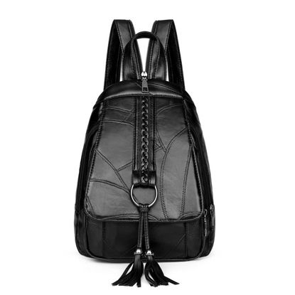 Picture of Women's Backpack Simple Style Solid Color Multi-Functional Bag - Size: One Size