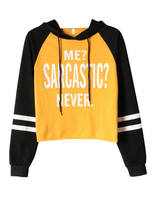 Picture of Women's Hoodie Long Sleeve Letter Striped Hoodie - Size: XL