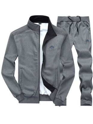 Picture of Men's Activewear Solid Color Fashion Elastic Casual Cozy Sets - Size: XL