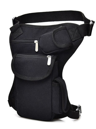 Picture of Classic Men's Wasitbag Outdoor Travel Camping Hiking Canvas Leg Bags - Size: One Size