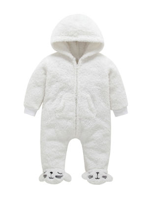 Picture of Baby Baby's Bodysuit Hooded Long Sleeve Comfy Cute Bodysuit - Size: 3M