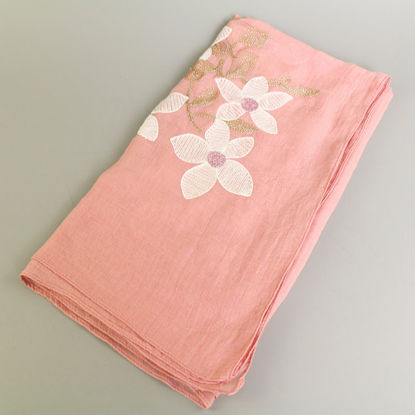 Picture of Women's Scarf Contrast Color Lily Flower Pattern Comfy Soft Scarf Accessory - Size: One Size