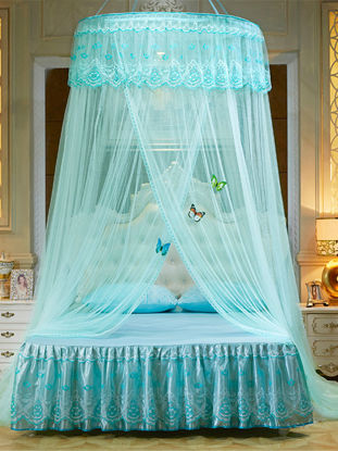 Picture of 1Pc Home Bed-curtain Solid Court Style Round Top Decorative Universal Mosquito Net