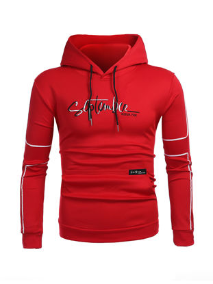 Picture of Men's Hoodie Pattern Print Hooded Long Sleeve Stylish Hoodie - Size: L