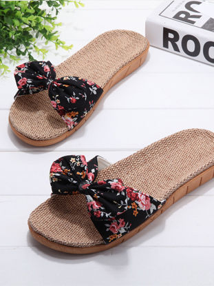 Picture of Women's Slippers Adorable Bow Shape Anti-slip Slippers - Size: 39-40