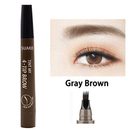 Picture of Women's 4-Tip Liquid Eyebrow Pencil Fine Sketch Enhancer Microblading Eyebrow Dye Tint Pen