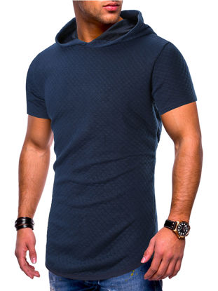 Picture of Men's T-Shirt Fashion Casual Solid Color Top - Size: M