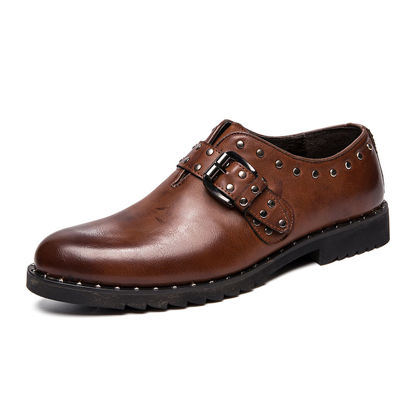 Picture of Men's Monk Shoes Fashion Casual Vintage Shoes - Size: 42