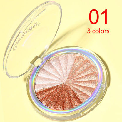 Picture of CmaaDu Highlighter Baking Powder High-gloss Powder Waterproof Long-lasting Repairing Brightening Bronzer Face Makeup