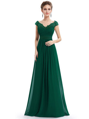 Picture of Ever-Pretty Women's Full Dress Elegant Slim Solid Color Maxi Long Dress - Size: XL