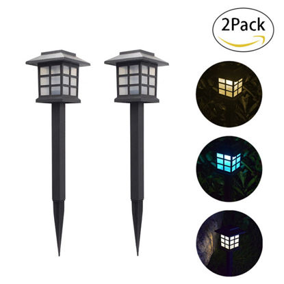 Picture of 2Pcs Outdoor Lights Garden Solar Waterproof Landscape Lamp - Size: One Size