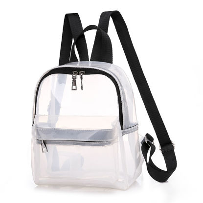 Picture of Women's Backpack Transparent Design Fashion Casual Zipper Closure Backpack - Size: One Size