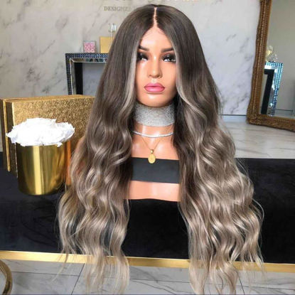 Picture of Women's Synthetic Hair Wig Stylish Curly Long Wig Accessory - Size: One Size