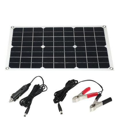 Picture of 30W 18V Flexible Solar Panel System Battery Dual Output Solar Power Energy With USB Interface