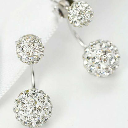 Picture of 1 Pair Women's Studs Exquisite Stylish Elegant Earrings Accessory - Size: One Size