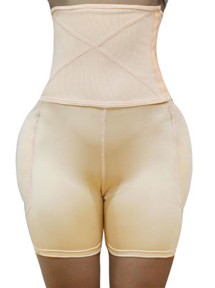 Picture of TOPMELON Women's Plus Size Shapewear Solid Color Tight Waist Hip Lifted Body Shaper - Size: XL