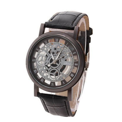 Picture of Men's Quartz Watch Fashion Casual Simple Hollow Out Belt Watch - Size: One Size
