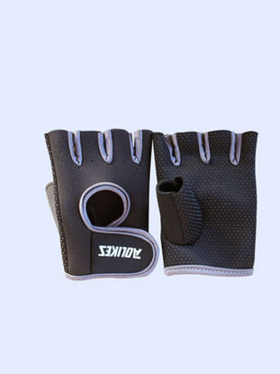 Picture of Men's Sports Gloves Anti-Skid Breathable Velcro Adjustable Outdoor Sports Half-Finger Gloves-A Pair - Size: M