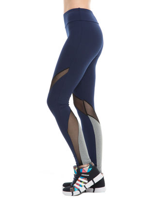 Picture of Women's Sports Pants Mesh Patchwork Hollow Out Elastic Slim Yoga Leggings - Size: S