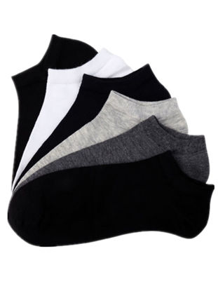 Picture of Men's 6 Pairs Ankle Socks Solid Color Breathable Casual Cozy Socks - Size: One Size